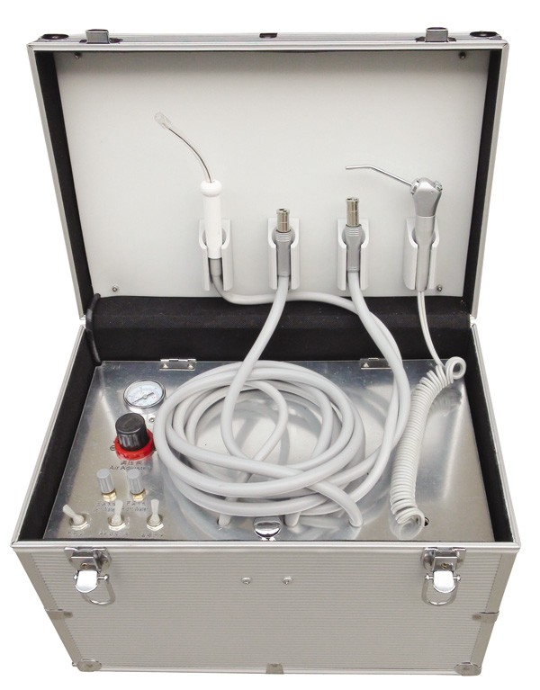 Dental Portable Turbine Unit with Air Compressor Suction Inside