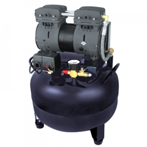 COXO® Dental Air Compressor Unit CX236-2 One  Drive One 550W Black