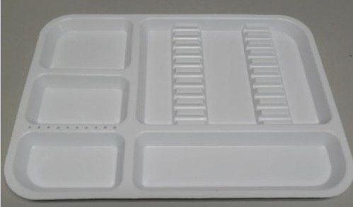 Dental Tray for Instrument Set Up 300-0011 White
