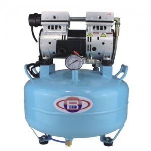 Dental Air Compressor 1-Driving-1 Silent Oilless Noiseless 3/4 HP BD-101A