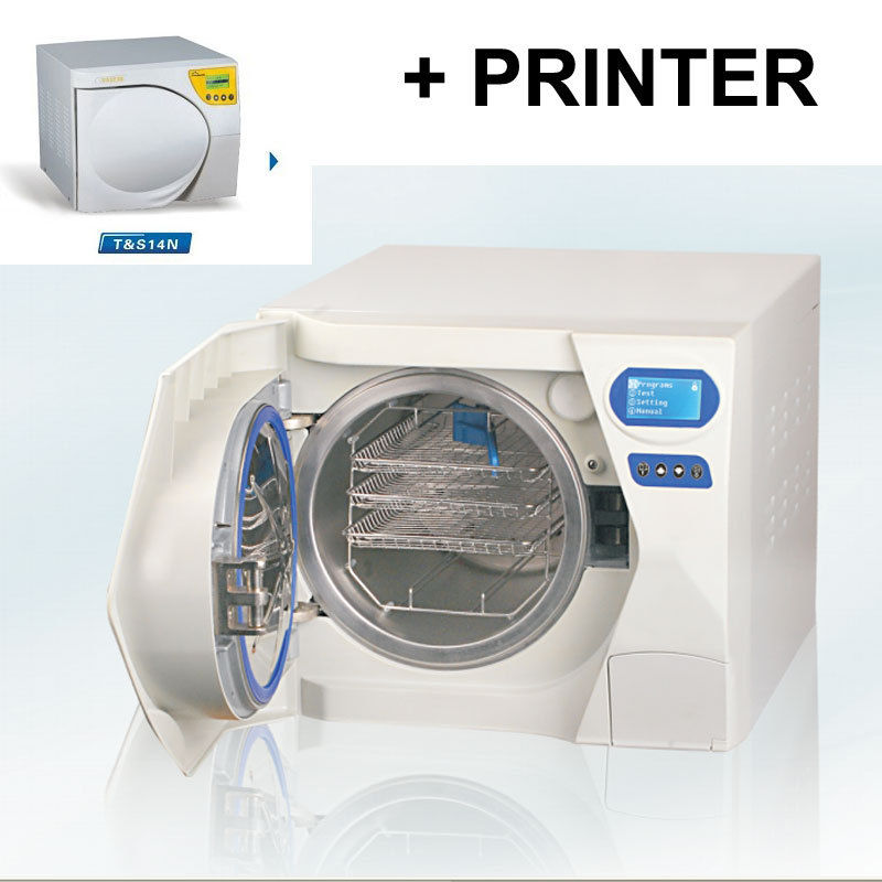 23L Class B Sun Autoclave Sterilizer Vacuum Steam with Printer For Dental Surgical Lab