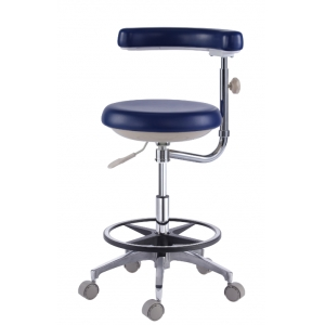 NEW Dental Assistant's Stool Nurse's Stool Chair PU Leather QY50...
