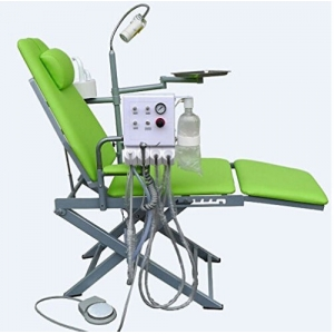 Dental Portable Folding Mobile Chair Unit with LED Surgical Ligh...