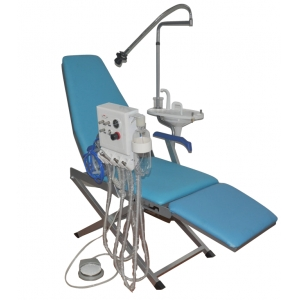 Dental Portable Folding Chair with 5W LED Light +Turbine Unit + ...