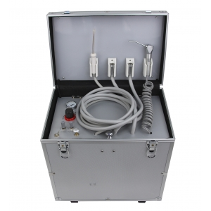 Portable Dental Turbine Unit with Air Compressor Suction Triplex...