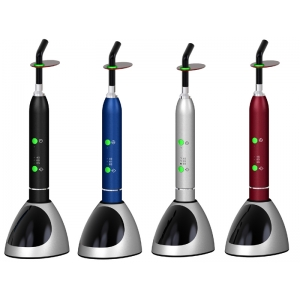 Dental Curing Light LED Lamp Wireless Cordless 10W 2000mw/cm2 Color Black Silver