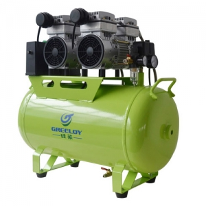 60L Dental Air Compressor Noiseless Oilless 310L/min 1-Driving-4...