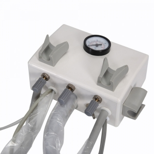 Dental Portable Turbine Unit Wall Mount with Air Compressor Trip...