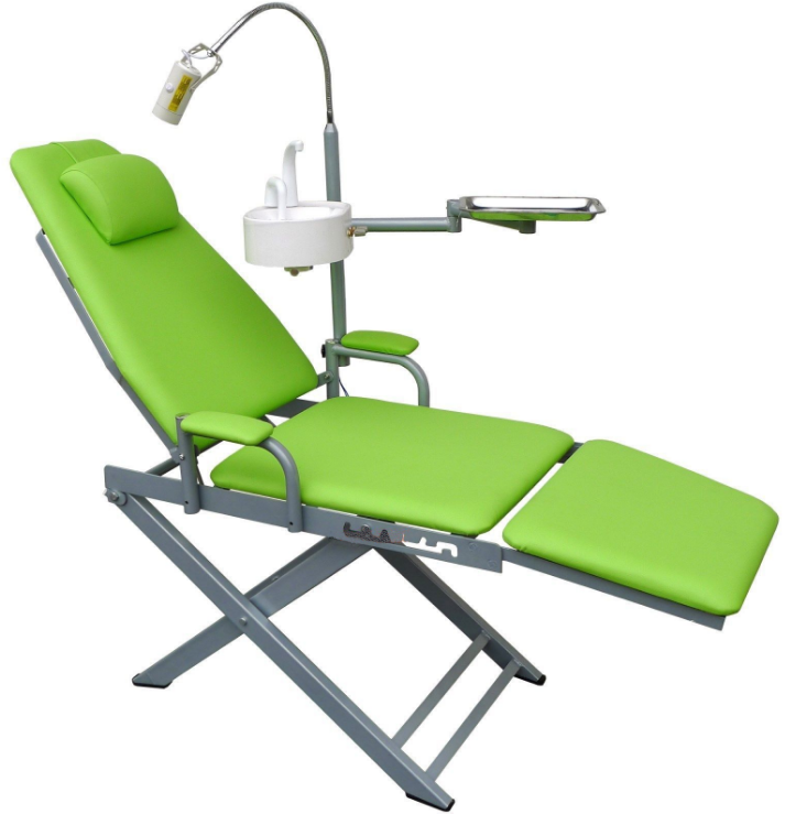 Dental Portable Folding Chair Mobile Unit+5W LED Surgical Light Lamp+Waste Basin