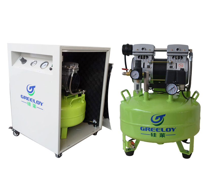 Greeloy Air Compressor With Dryer and Silent Cabinet GA-61XY