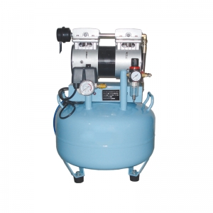 Dental One-Driving-One Silent Oilless Air Compressor Noiseless 3/4 HP Auto Fil