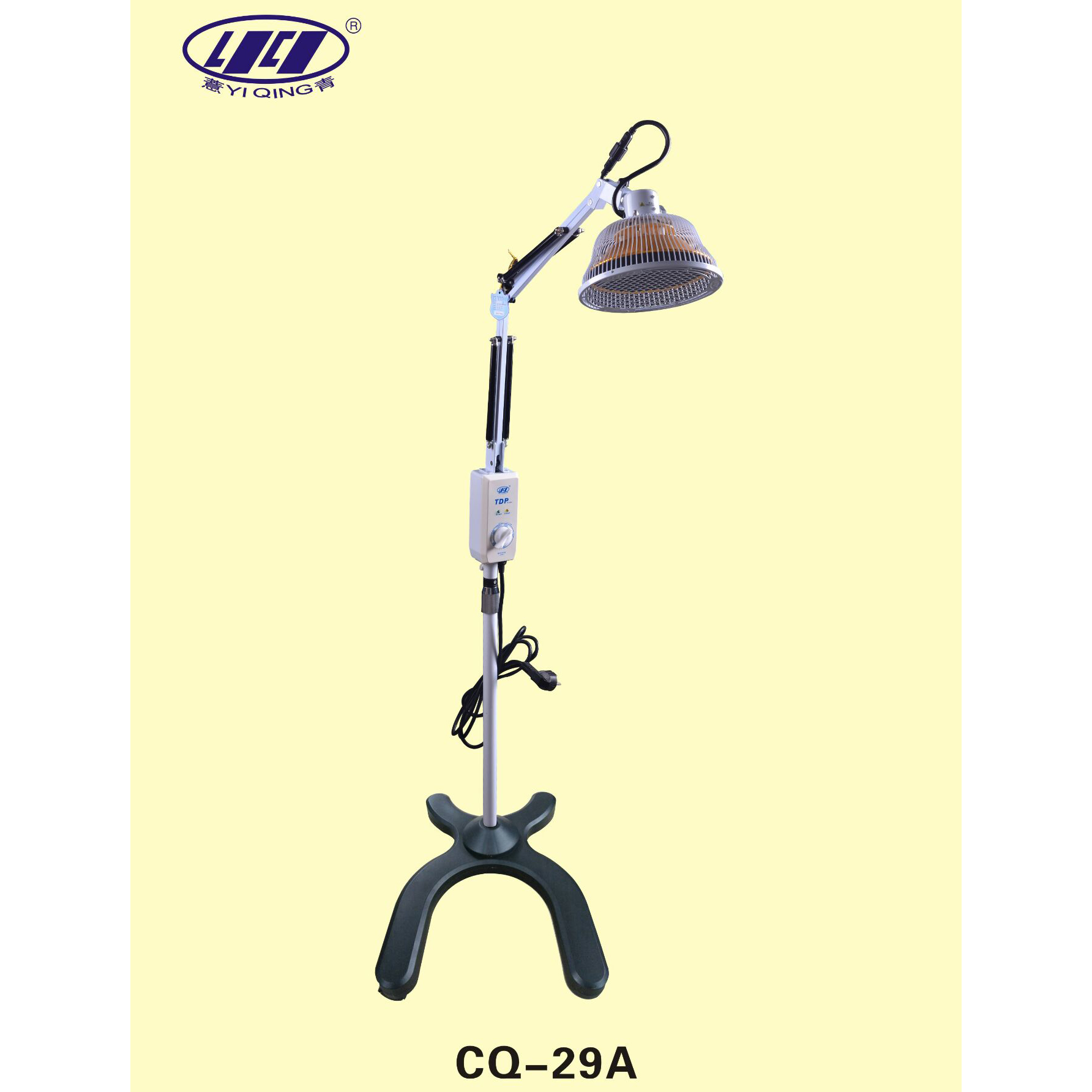 TDP Lamp Simple Floor Standing Infrared Heat Adjustable Indepentent Head NEW