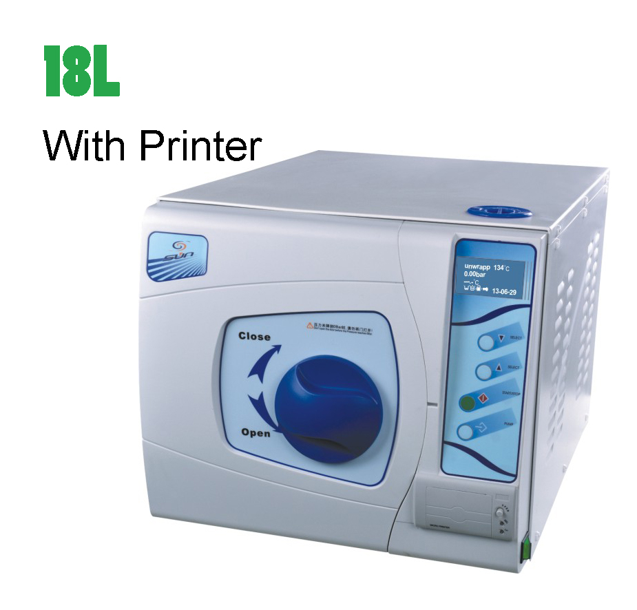 18L-II Class B Dental Steam Autoclave Sterilizer 3 Time Pre Vacuum with Printer LCD Screen CE