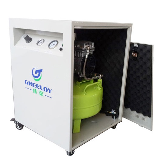 Greeloy Oil Free Air Compressor GA-61X With Silent Cabinet