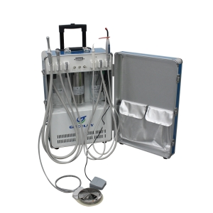 Greeloy Portable Dental Unit with Air Compressor GU-P206 (with curing light and ultrasonic scaler)