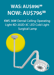 KWS 36W Dental Ceiling Operating Light KD-202D-3C LED Cold Light Surgical Lamp