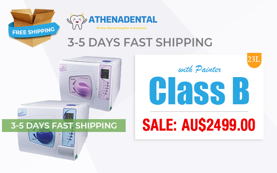 (3-5 Days Arrive) 23L Class B Sun Autoclave Sterilizer Vacuum Steam + Printer For Medical Dental Beauty Nail Salon